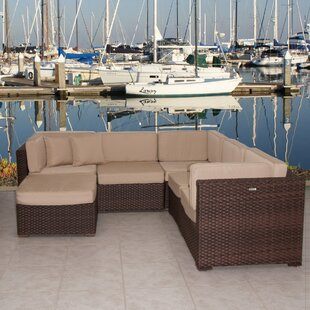 Brayden Studio Lorentzen 6 Piece Sunbrella Sectional Set with Cushions