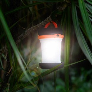 Black Battery Powered Collapsible LED Outdoor Lantern By Sol 72 Outdoor