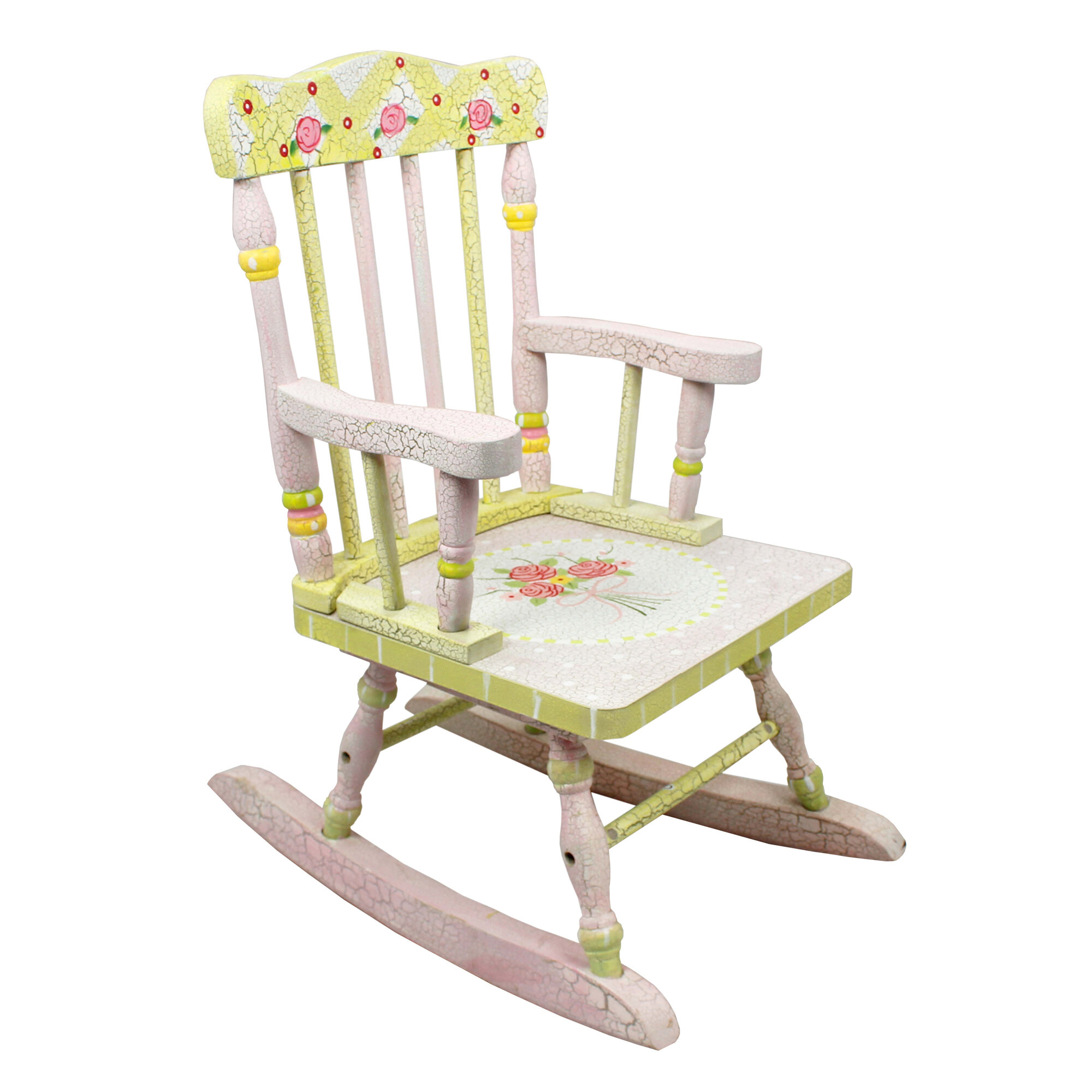 fantasy fields crackled rose kids rocking chair reviews wayfair