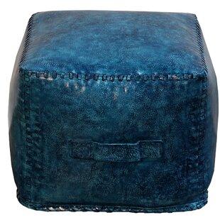 Hardt Leather Cube Ottoman