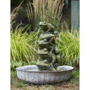 Melrose International Frog Resin Fountain