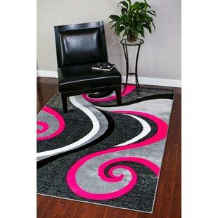 Alycia Pink/Gray Indoor/Outdoor Area Rug