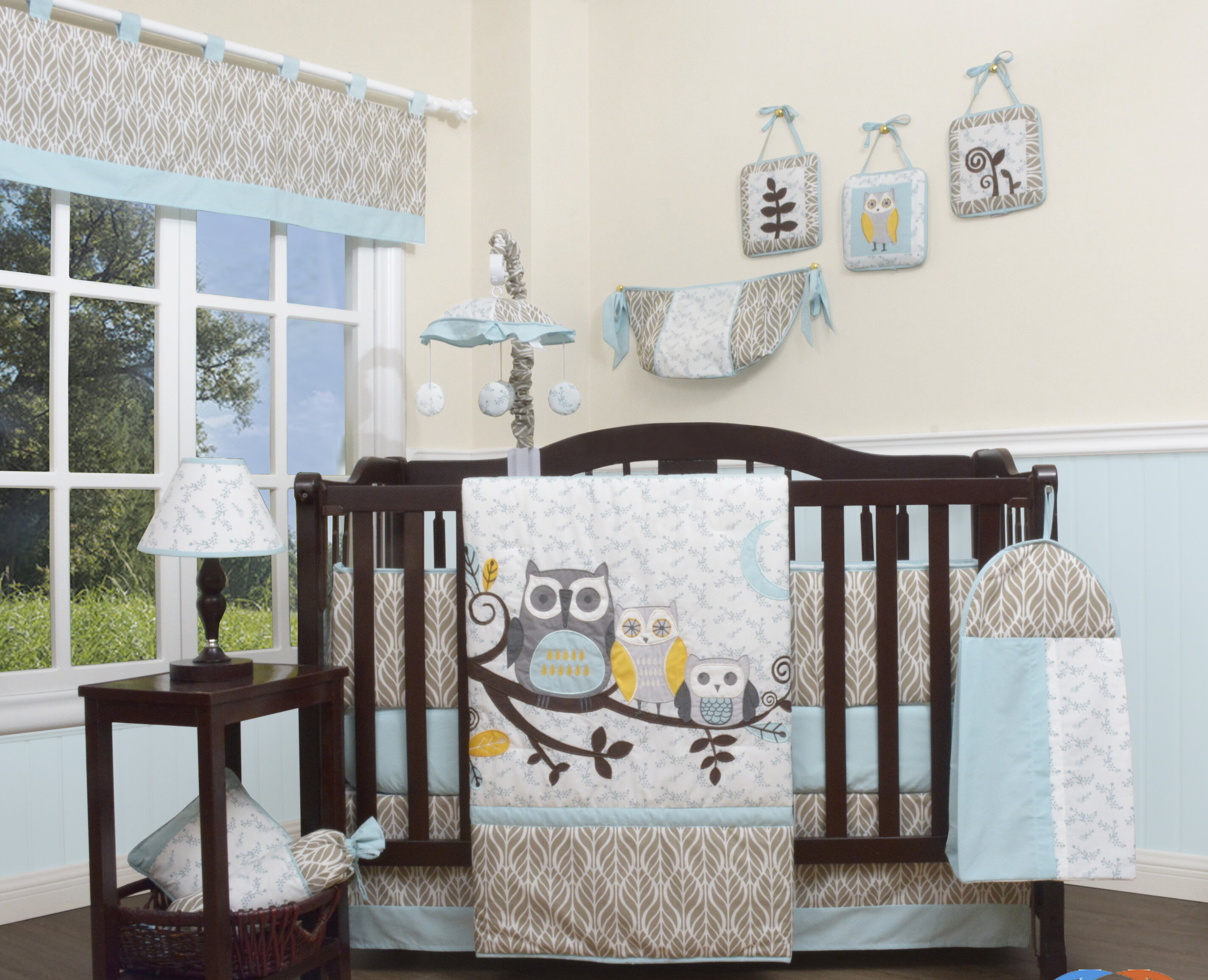 Geenny Enchanted Forest Owls Family 13 Piece Crib Bedding Set Wayfair