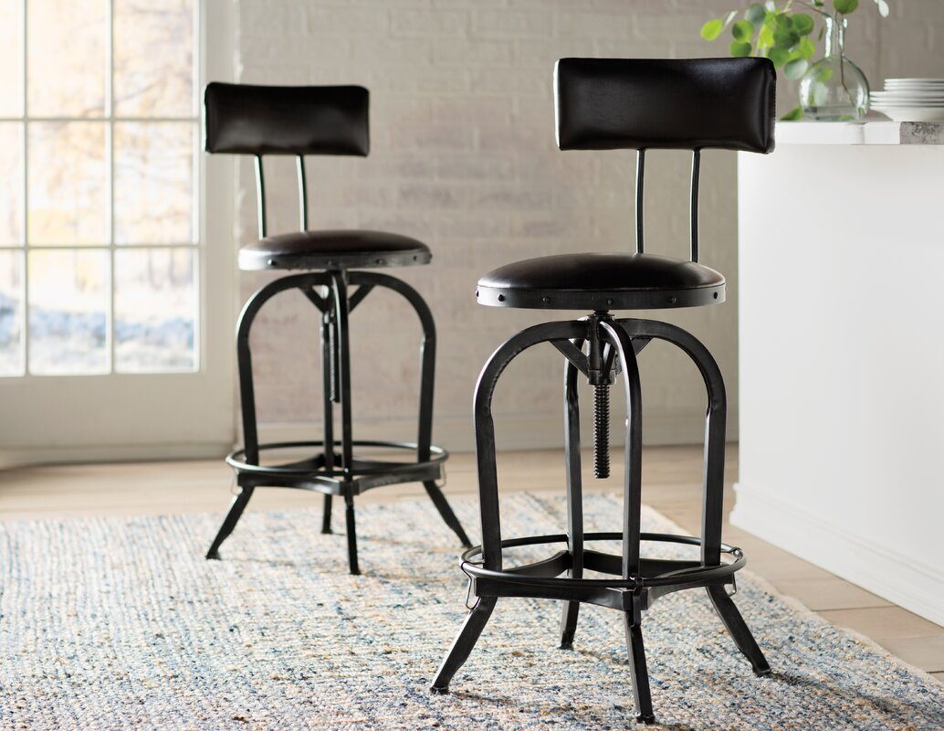 trent austin design oria adjustable height swivel bar stool reviews. Black Bedroom Furniture Sets. Home Design Ideas