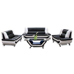 Downey 4 Piece Living Room Set By Orren Ellis
