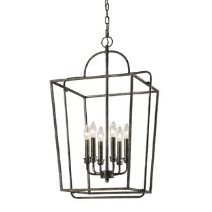 Gracie Oaks Khaleesi 6-Light Lantern Chandelier