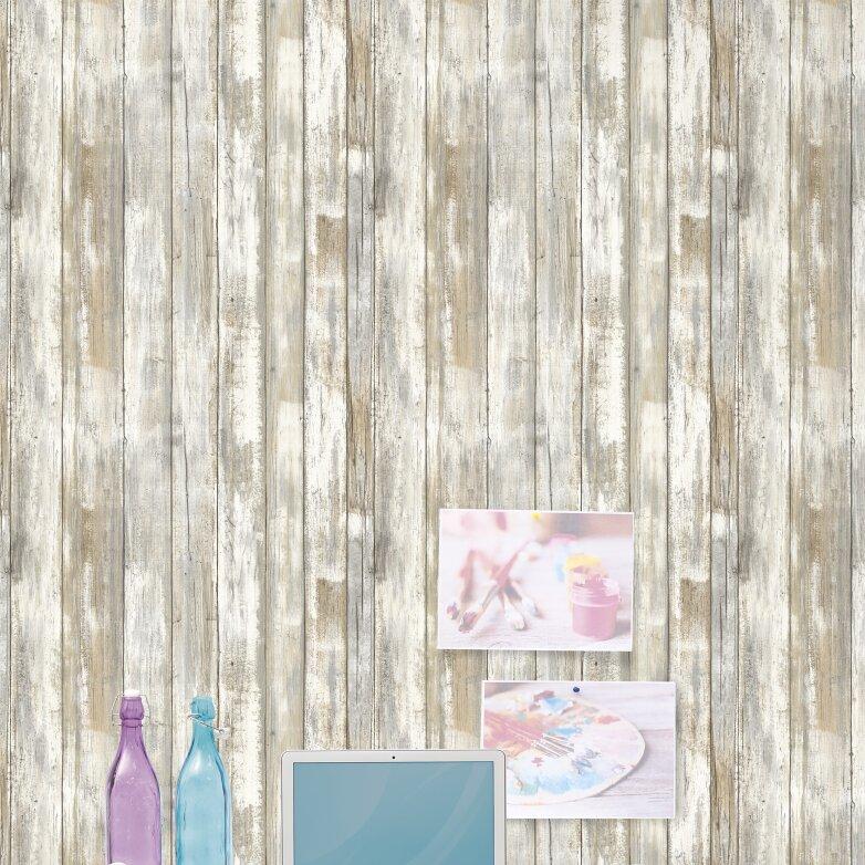 L And Stick 16 5 X 20 Wood Distressed Roll Wallpaper