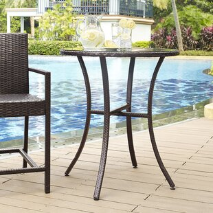 Belton Wicker Bistro Table by Mercury Row Best Design