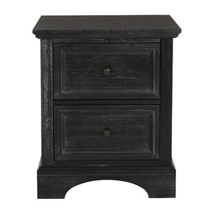 Hayter 2 Drawers Nightstand by August Grove