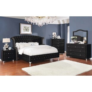 Guidry Upholstered Platform Configurable Bedroom Set by Mercer41 Amazing