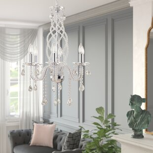Best Reviews Emilie 6-Light Candle Style Chandelier By House of Hampton
