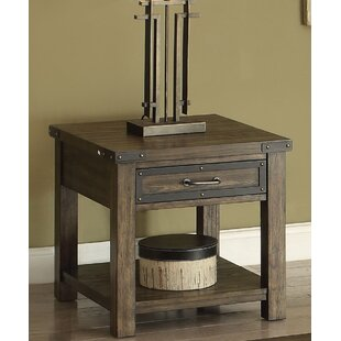 17 Stories Thanos End Table with Storage