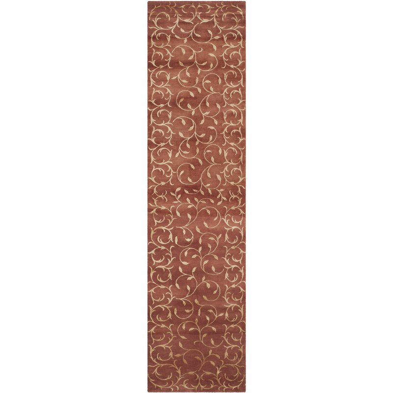 Safavieh Echevarria Floral Hand Knotted Brown Area Rug