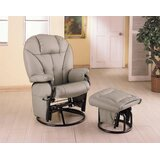 Manual Swivel Recliner with Ottoman by Wildon Home®