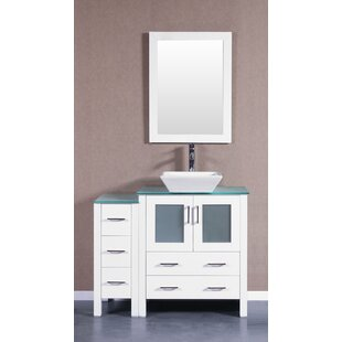 Online Reviews Dendron 42 Single Bathroom Vanity Set with Mirror By Highland Dunes