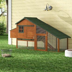 Hentz Wooden Backyard Slant Roof Hen House Chicken Coop