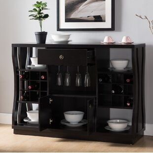 Brayden Studio Parish 18 Bottle Floor Wine Cabinet