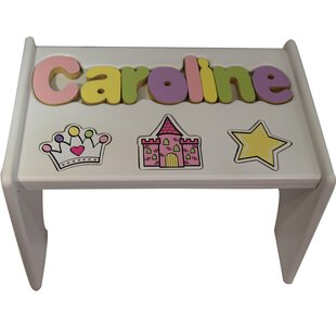 Timmons Child Princess Themed Wooden Puzzle Personalized Step Stool