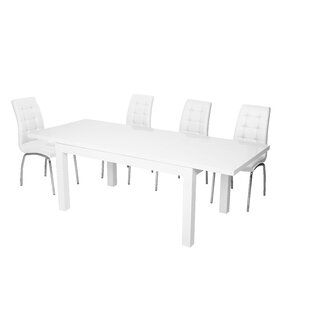 William Extendable Dining Set With 6 Chairs By Wade Logan