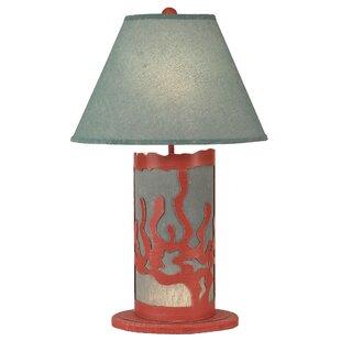 Hutzler Coral Scene Panel 30 Table Lamp