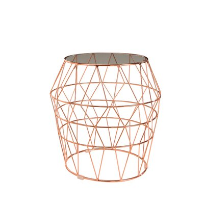 Brayden Studio Damen End Table Color: Rose Gold
