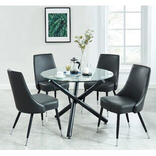 Dorthy Contemporary 5 Piece Dining Set Wrought Studio