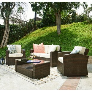 Best Desu, Inc. 4 Piece Outdoor Conversation Set