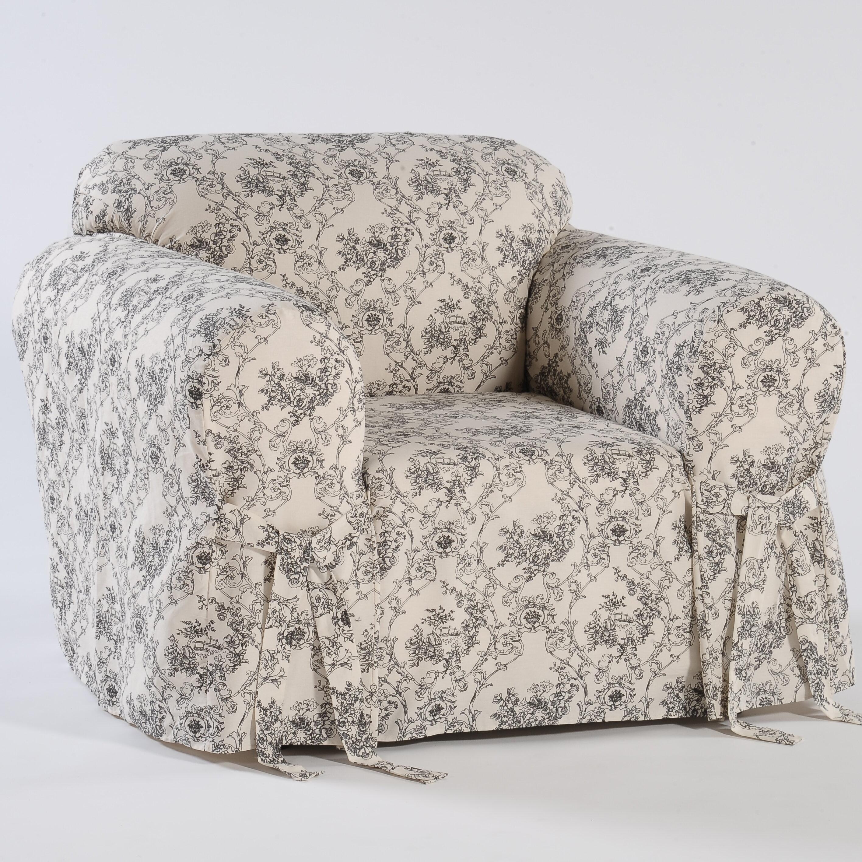 Bon Classic Slipcovers Toile Print Box Cushion Armchair Slipcover U0026 Reviews |  Wayfair