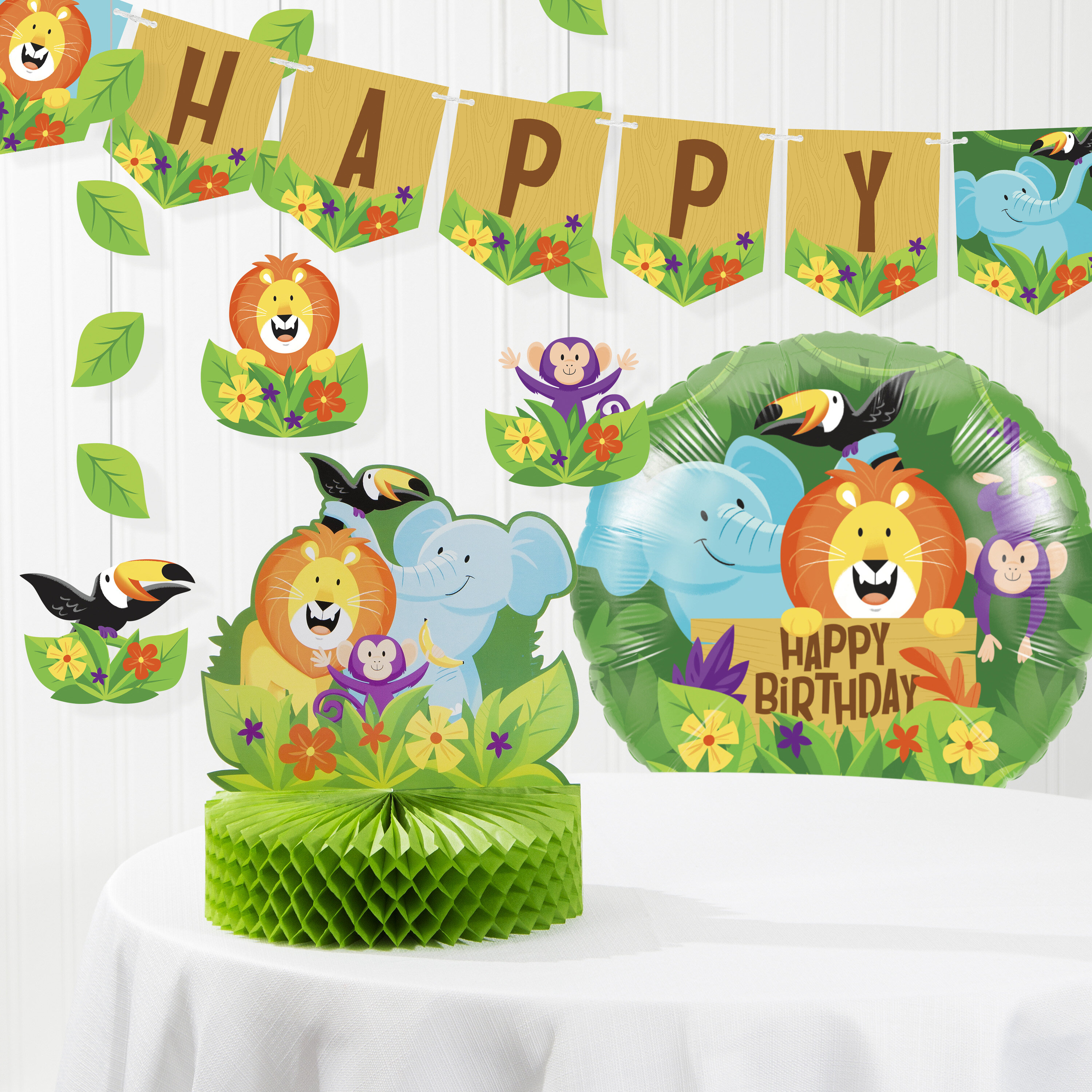 Jungle Adventure Party 6 Toucan Birthday Party Candles
