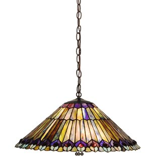Meyda Tiffany Victorian Tiffany 3-Light Bowl Pendant