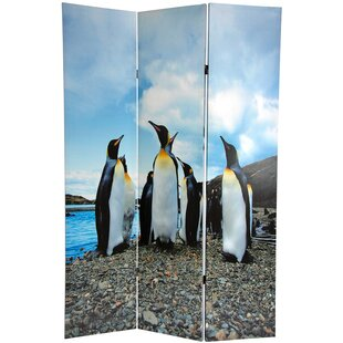 East Urban Home Penguin 3 Panel Room Divider