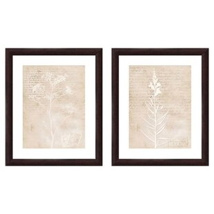 Yarrow 2 Piece Framed Graphic Art Set by PTM