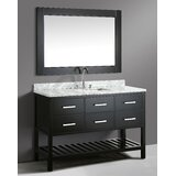 London Cambridge 54 Single Bathroom Vanity Set with Mirror by dCOR design