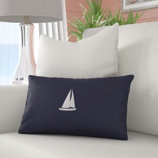Hampden Sailboat Indoor/Outdoor Sunbrella Throw Pillow