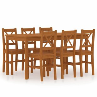Jered Dining Set With 6 Chairs By Brambly Cottage