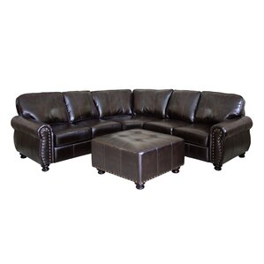 Thomas Leather Ottoman by Wildon Home ?
