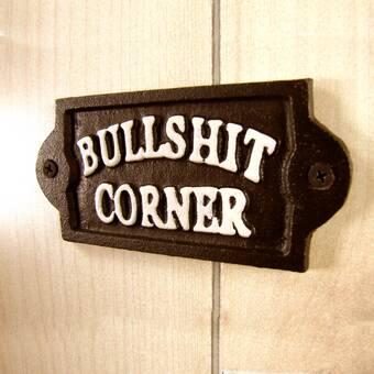 BLACK HOUSE DOOR PLAQUE WALL SIGN GARDEN BULLSHIT CORNER BRAND NEW