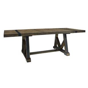 Williston Forge Leandra Trestle Extendable Dining Table