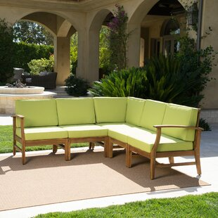 Antonia Teak Patio Sectional with Cushions
