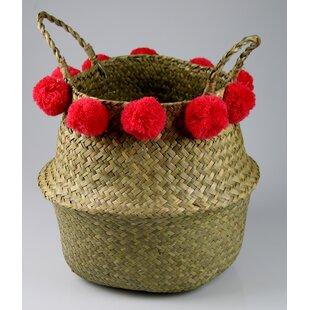 Pompom Seagrass Basket By Bloomsbury Market