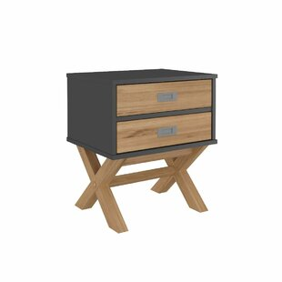 Ivy Bronx Deirdre 2 Drawer Nightstand