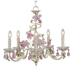 Jubilee Collection Flower 5-Light Candle Style Chandelier