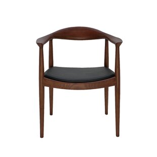 Johan Genuine Leather Upholstered Dining Chair