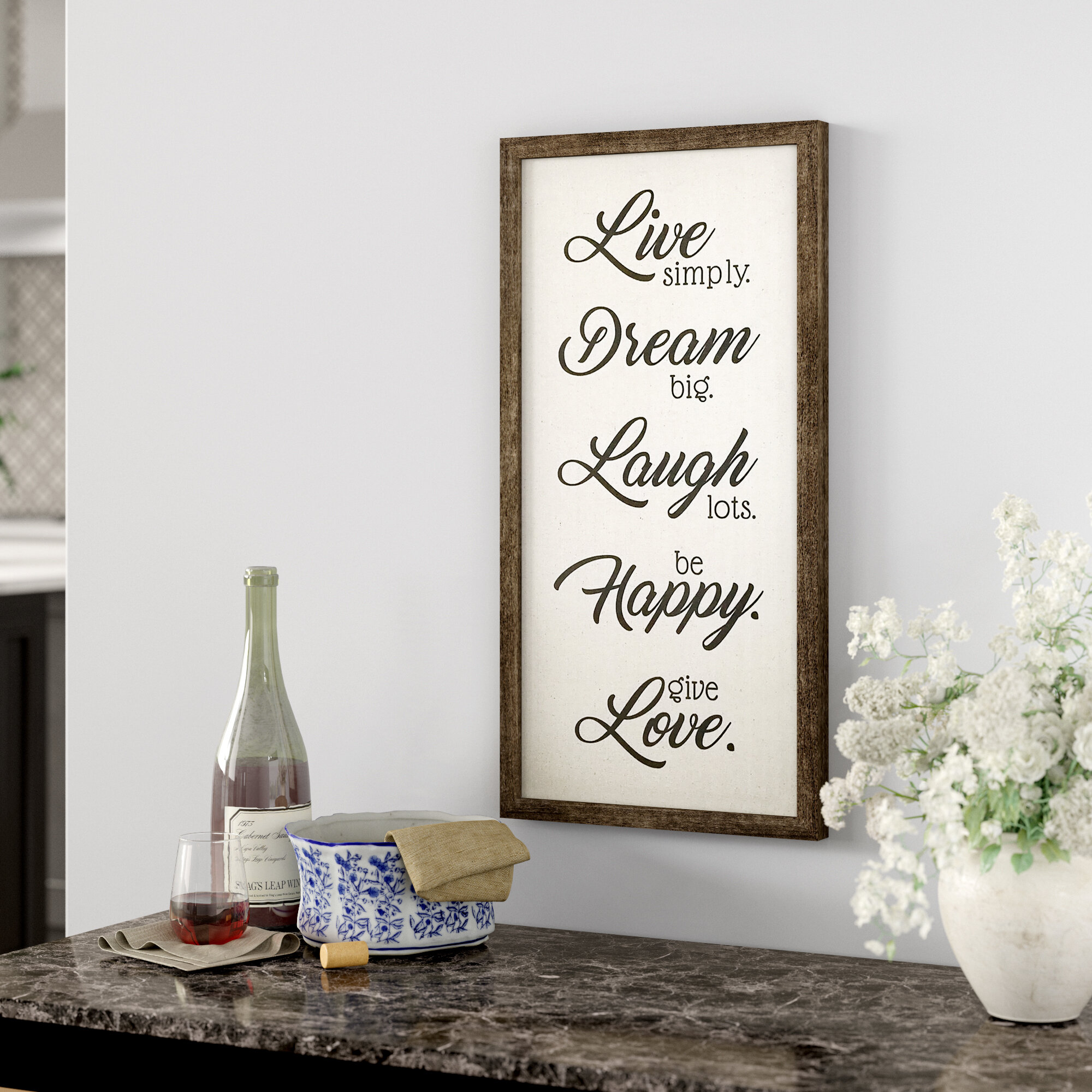 Winston Porter Live Dream Laugh Happy Love Wall Decor Reviews Wayfair