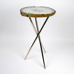 Natural Agate End Table