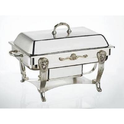 Silver Plated 8 Qt Rectangular Chafing Dish