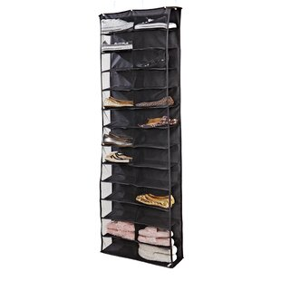 Affordable 26-Compartment Overdoor Shoe Organizer By Rebrilliant