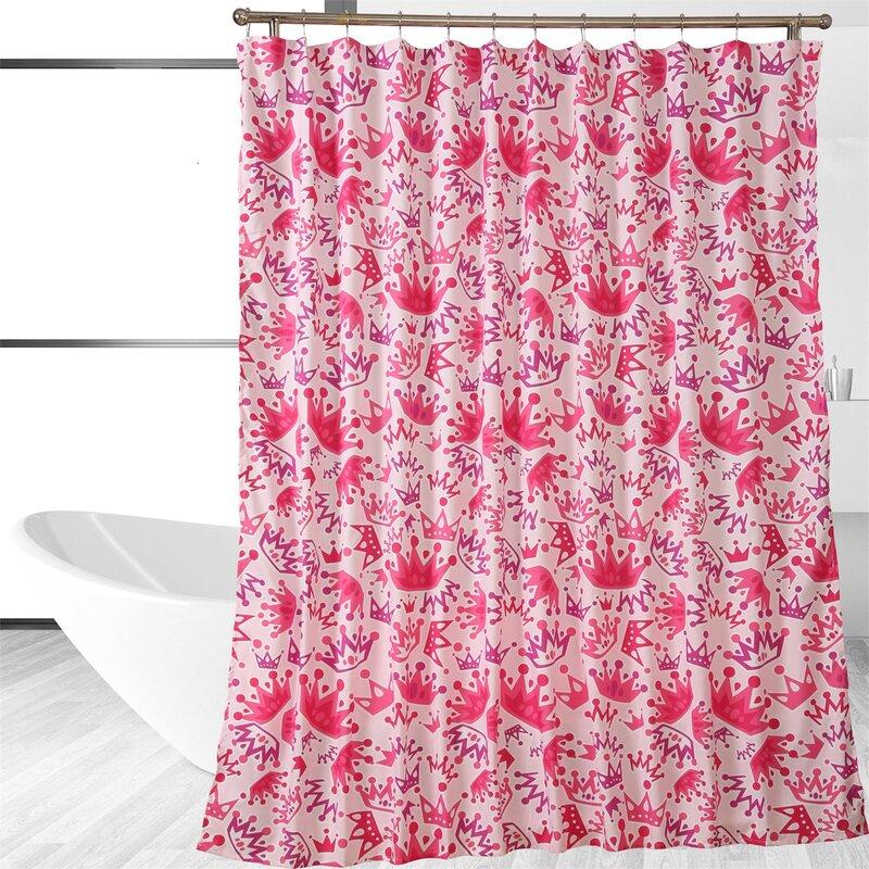Affluence Home Fashions Posh Princess Single Shower Curtain