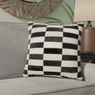Graham Leather Throw Pillow