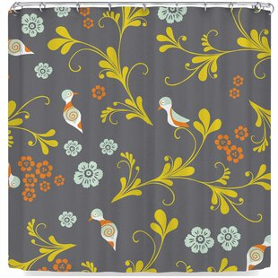 Louise Machado Birds Single Shower Curtain